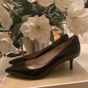 Michael Kors Black Patent Leather Kitten Heels